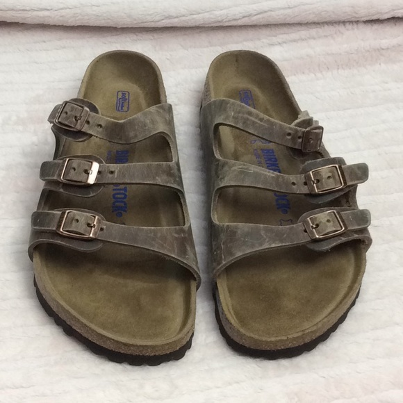 8b58c4fd3e80 Birkenstock Shoes - Birkenstock Florida Soft Footbed Size 8 Tobacco
